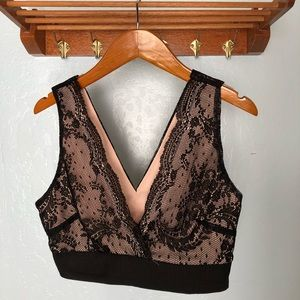 Forever21 Black & Nude Lace Bralette